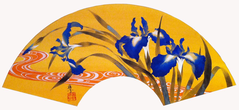 Ventaglio, pittura tradizionale giapponese di Shoko Okumura
