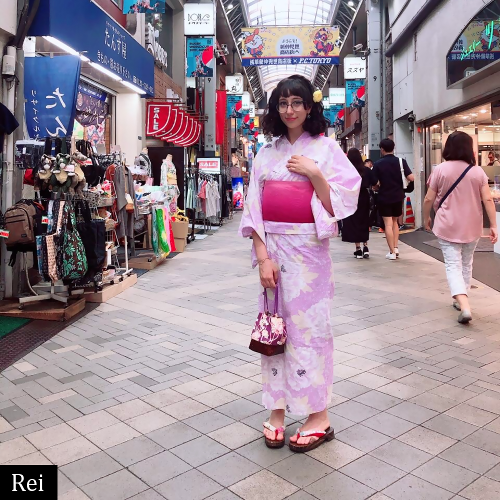 Rei, idol italiana in yukata