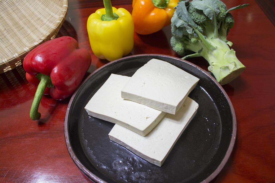 fette di tofu giapponese