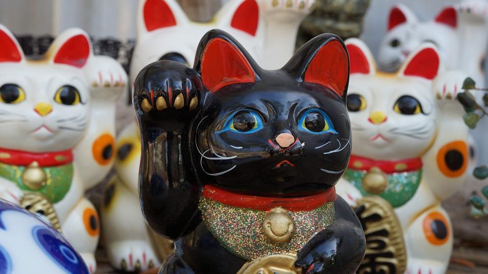 il gatto giapponese portafortuna