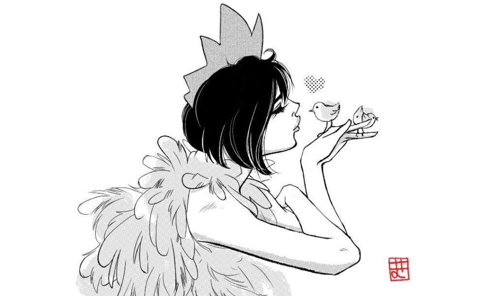 Disegni manga al festival del fumetto