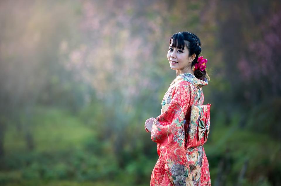 bellezza giapponese in kimono