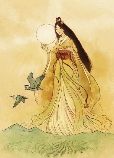 La divinità giapponese Amaterasu, dea del Sole