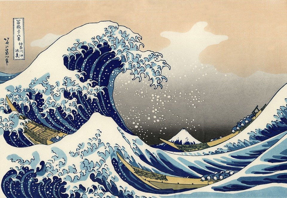 La grande onda di Kanagawa, Hokusai