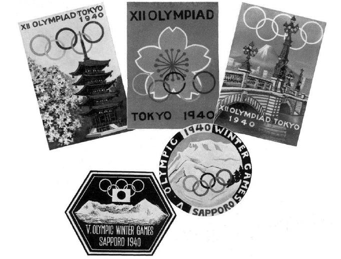 Immagini promozionali dalle Olimpiadi di Tokyo 1940