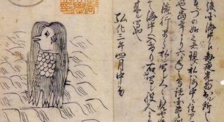 Amabie creatura del folklore nipponico