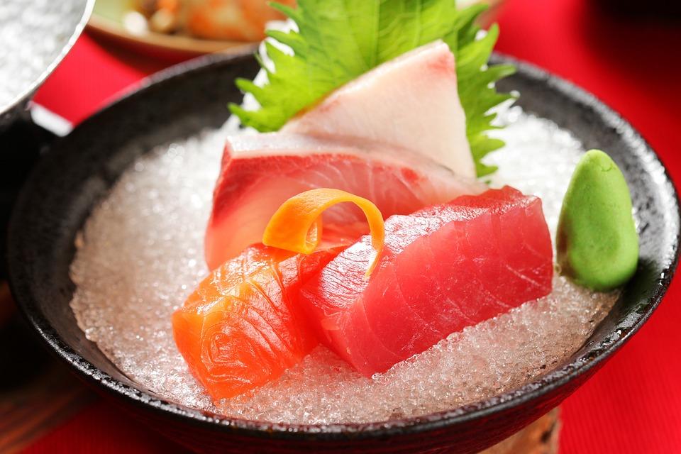Sashimi di pesce a Kyoto