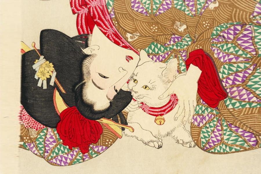 Gatti nell'arte giapponese