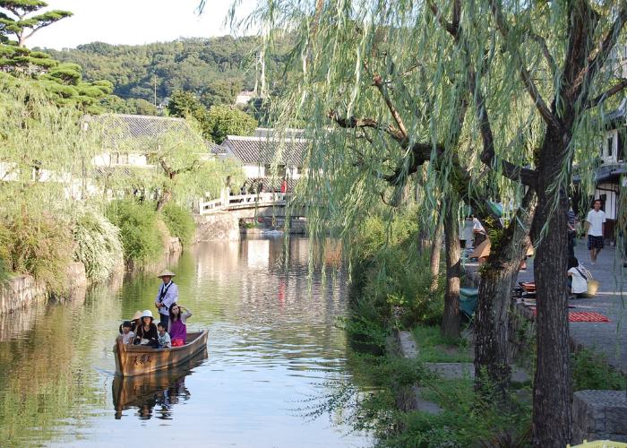 Fiume del distretto storico di Kurashiki, prefettura di Okayama