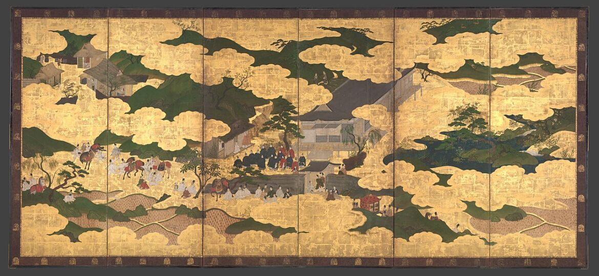 1280px-平家物語図屏風-_Kogō__and__The_Imperial_Procession_to_Ōhara_,_from_The_Tale_of_the_Heike_(Heike_monogatari)_MET_DP704877