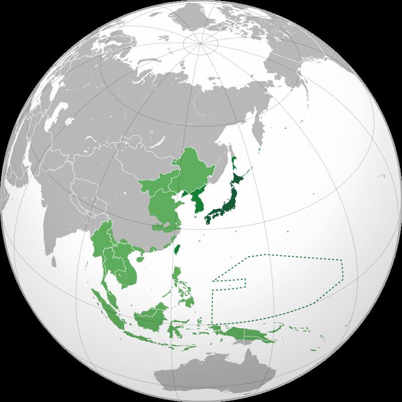 Mappa del colonialismo giapponese durante la seconda guerra mondiale