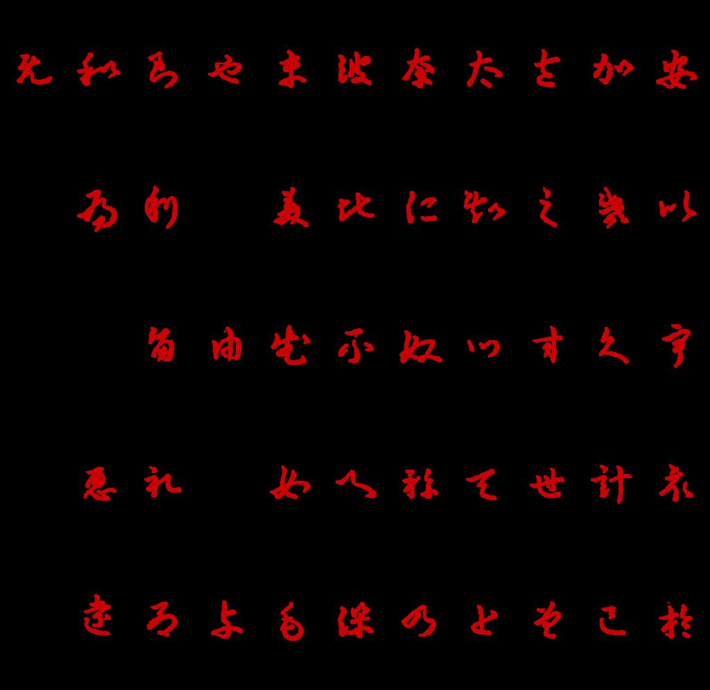 Origine dell'alfabeto hiragana giapponese