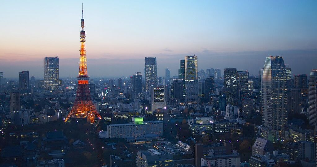 """Blue Hour over Tokyo"" by Schwarzkaefer is licensed under CC BY 2.0"