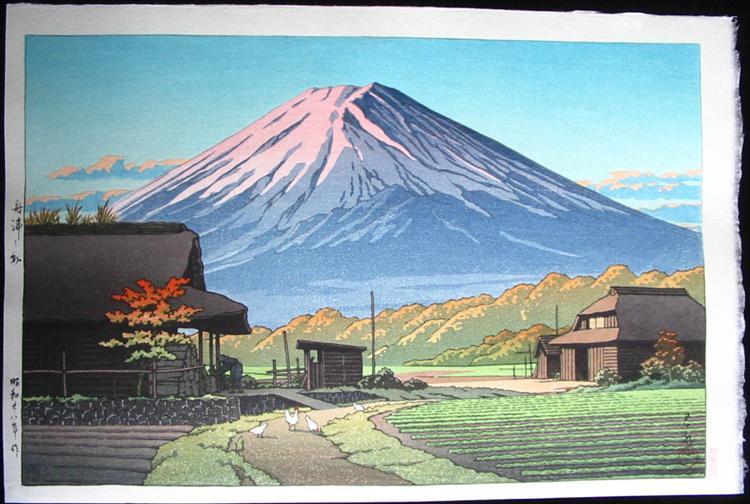 Autunno a Funatsu, vicino al lago Kawase, 1953 - Hasui Kawase