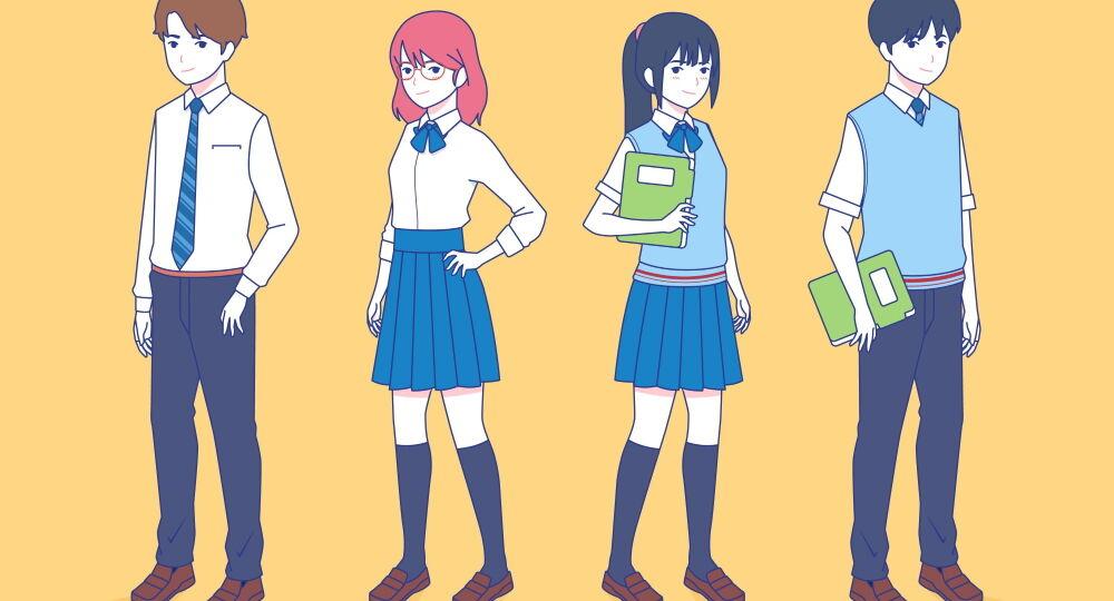 scuole superiori, studenti giapponesi