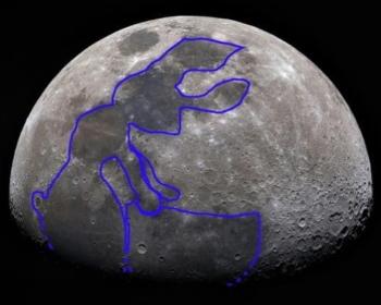 Leggenda giapponese del coniglio sulla luna