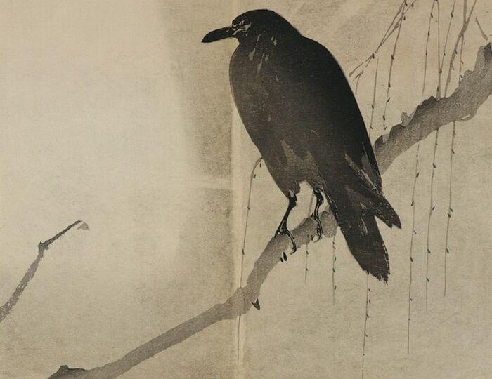 Corvo nella pittura giapponese